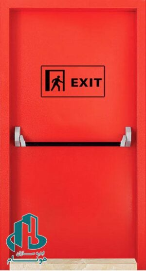 درب ضد حریق قرمز