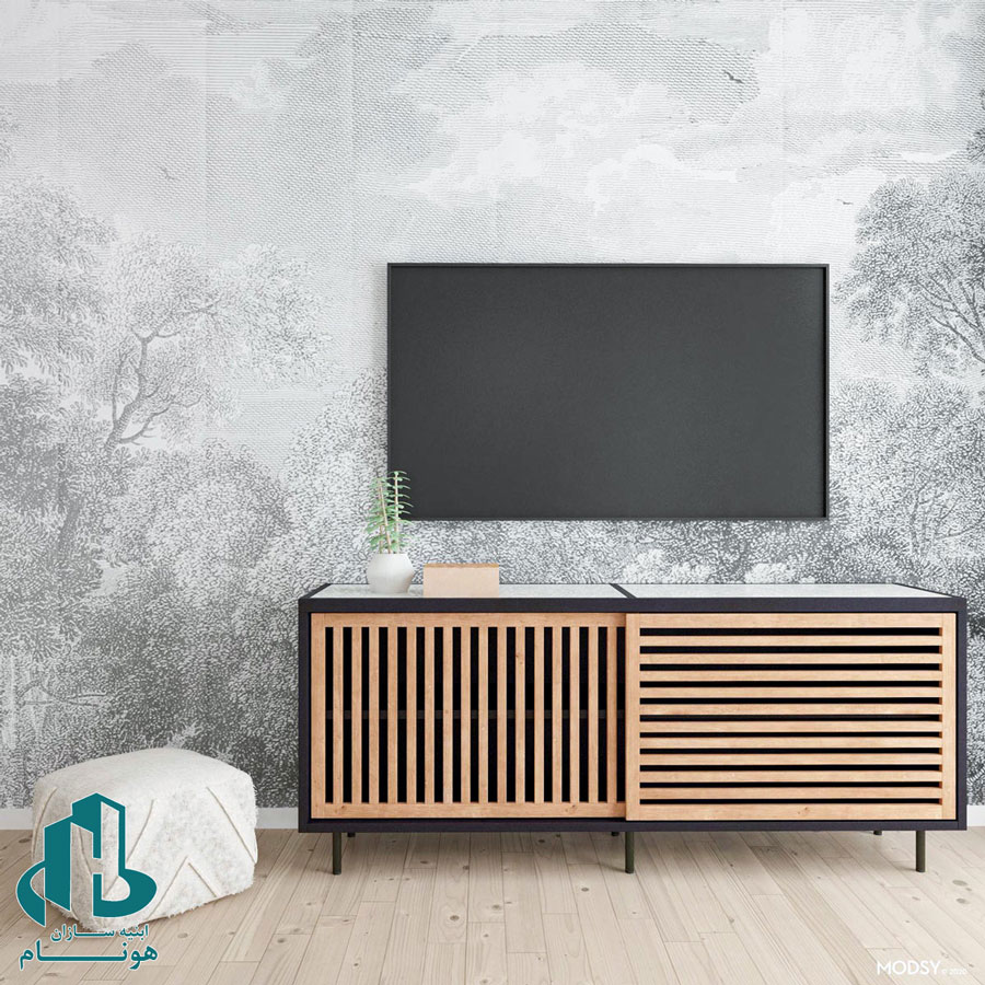 انواع کاغذ دیواری پشت تلویزیون
